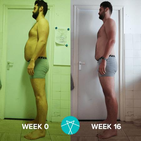 In 16 weken ben ik compleet veranderd, het resultaat is geweldig!